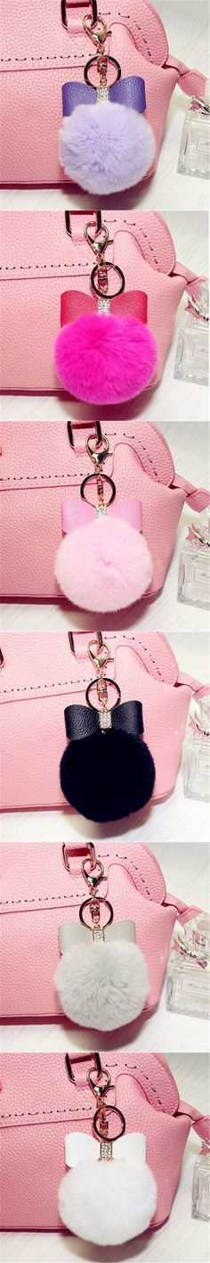 UK SALE Grey Accessory Fur Lola Rose Handbag Charm Keyring PomPom Ball 3 FOR 2