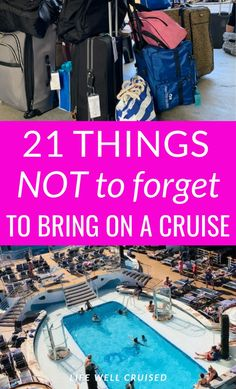 If you're planning a future cruise, you need to know what you can't forget to pack and bring with you. Unfortunately once on the cruise ship, getting things on board can be both expensive and a bit difficult. Here are the cruise packing tips you need! Top Cruise, Cruise Port, Cruise Vacation, Dream Vacations, Cruise Ship Reviews, Best Cruise Ships, Cruise Excursions, Cruise Destinations, Packing List For Cruise