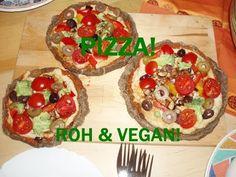 Vegane Rohkost: leckere Pizza selber machen! - YouTube