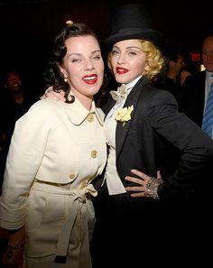 Madonna and Debi Mazar