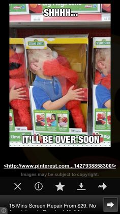 Buy and Elmo toy and it promises not to do anything . 5 night at freddys ish