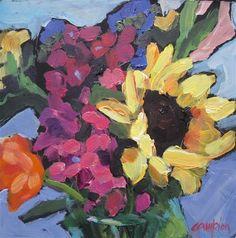 """""""154 Mixed Bouquet"""" - Original Fine Art for Sale - © Diane Campion"""