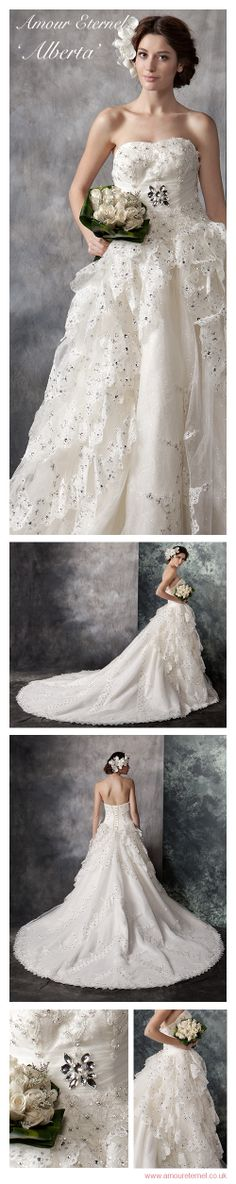Wedding Dress with WOW factor | Amour Eternel | www.amoureternel.co.uk