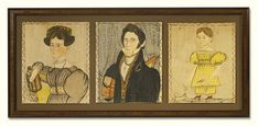 Lot | Sotheby's: THE CARVER LIMNER: BARNABAS BARTOL CARVER, MARY COFFIN CARVER, AND FRANCES ANN CARVER. Sold $521,000.