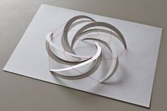 Yoshinobu Miyamoto Concept for Structural and Construction System Tilted up half-circles: compression arches Red strings: tension cables x 210 mm Paper) Based on Villarceau Circles on Torus Architecture Pliage, Folding Architecture, Architecture Design, Temporary Architecture, Architecture Concept Drawings, Tropical Architecture, Ancient Architecture, Kirigami, Paper Art