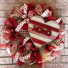A personal favorite from my Etsy shop https://www.etsy.com/listing/567541170/valentines-day-wreath-red-deco-mesh