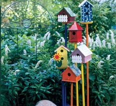 How-To Make a Birdhouse Display > National Home Gardening Club