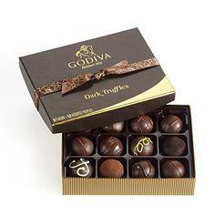 Godiva Chocolatier Dark Chocolate Truffles, 12 Count - http://bestchocolateshop.com/godiva-chocolatier-dark-chocolate-truffles-12-count/