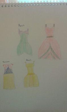 Σχεδίασα 4 φορέματα για τις ηρωίδες της Disney