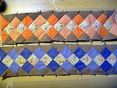 """""""Created by the Native Americans of southern Florida, Seminole strip piecing is based on a simple form of decorat"""
