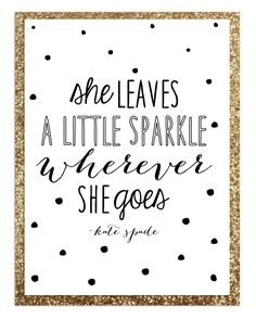 Poster quote design, Kate Spade inspired B Day party #blackandwhite #menu #katespade #glitter #dots #typography