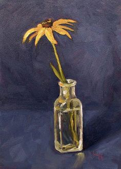 Day-02--Yellow-Coneflower-oil-Krista-Hasson