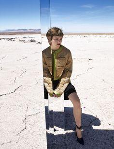 Mercury Rising: Peyton Knight by Camilla Akrans for Harper's Bazaar August 2016 #mirror
