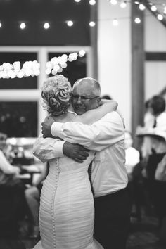 Sweet moment between bride and her father. Photo: M Lindsay Photography