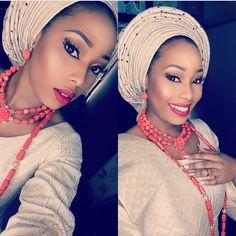 Post Up - Flawless! ❤️✨ @officialjulezz, makeup by @keemamua #BellaNaijaWeddings