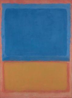 """""""Untitled (Red, Blue, Orange)"""", 1955, Mark Rothko."""