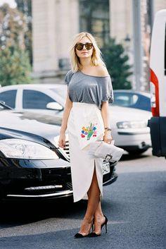 { Nasiba - I love that Dior skirt }