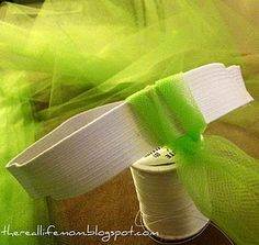 REALLY easy tutu tutorial. Only need to sew the elastic