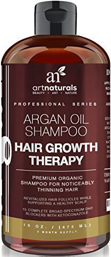 Art Naturals Organic Argan Oil Hair Loss Shampoo for Hair Regrowth 16 Oz - Sulfate Free - Best Treatment for Hair Loss, Thinning & Aging - Product For Men & Women - Infused with Biotin Month Supply - essential-organic. Best Hair Regrowth Treatment, Natural Hair Loss Treatment, Hair Growth Treatment, Hair Treatments, Hair Growth Shampoo, Shampoo For Hair Loss, Argan Oil Hair, Hair Oil, Vitamins
