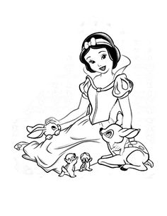 branca de neve e os sete anoes para colorir - Drawing And Colouring For Kids
