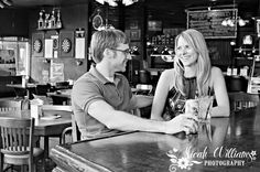Loved this engagement session - this couple met at the bar we took this shot at...awe