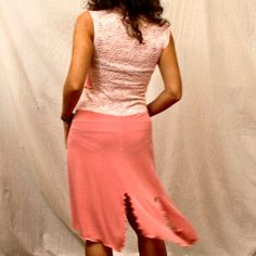 bright pink stretchy lace back Tango dress by PamelaCreazioni, €80.00