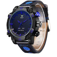 AMST Quartz Relógio Masculino Mens Novo Relógios Top Brand Luxo Militar resistente à água Relógio Masculino relógios relogio masculino