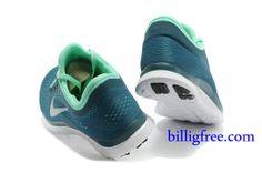 Billig Schuhe Herren Nike Free 3.0 V5 (Farbe:Vamp-blau,innen-grun,logo&Sohle-weiB) Online Laden.