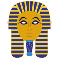Egyptian Death Mask Template | Free Printable Papercraft Templates Toddler Crafts, Crafts Toddlers, Crafts For Kids, Templates Printable Free, Free Printables, Egyptian Mask, Mask Template, Garden Crafts, Mask For Kids