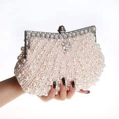 48.44$  Buy here - http://vipqg.justgood.pw/vig/item.php?t=yd293ub37410 - 2017 New Double Sided Pearl evening bag Shell beaded clutches type diamond flowe 48.44$