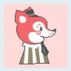 INSTANT Download - Little fox - Cross Stitch Pattern Pdf