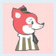 INSTANT Download - Little fox - Cross Stitch Pattern Pdf