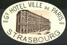 Strassburg, Hotel Ville De Paris, Hotelgebäude Luggage Stickers, Personalized Items