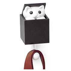 Qualy Kitt-a-Boo Peeping Cat Wall Hook Coathook Hanger Bl... https://www.amazon.com/dp/B01II0ERCU/ref=cm_sw_r_pi_dp_x_ZeeEyb3ZST5SK