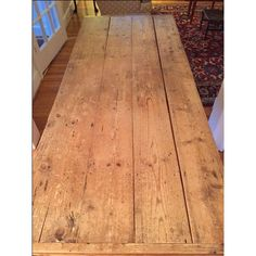 Image of Antique 19th Century Irish Pine Farm Dining Table