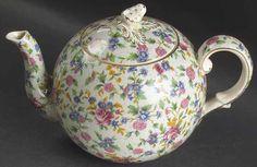 Royal Winton OLD COTTAGE CHINTZ 3 Cup Elite Tea Pot