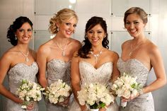 {Bridesmaids Style} : Sequins and Lace - Belle the Magazine . The Wedding Blog For The Sophisticated Bride
