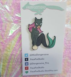 Mercatwoman is also in! Order now at FauxFoxStudio.storenvy.com Not the link in my profile and she will ship out tomorrow. . . . . #pins #pin #enamelpin #hardenamel #softenamel #lapelpin #lapelpins #pingram #pinstagram #pingame #mermaid #catwoman #dccomics #comicbooks #pearl