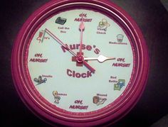 CUSTOMIZED Funny Nurse Clock Gift. $30.00, via Etsy.