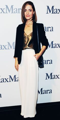 Rose Byrne As the next recipient of the 2014 Women in Film Max Mara Face of the Future Award.