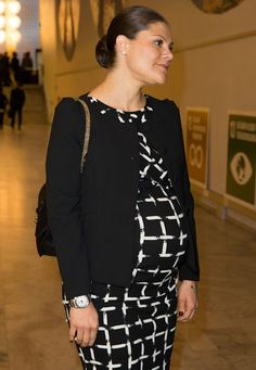 "NewMyRoyals: Crown Princess Victoria, who is due to give birth to her second child in March, attended the ""Agenda 2030"" conference, which focuses on Sweden's efforts to reach its global sustainable development goals, January 18, 2016"