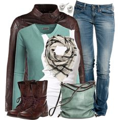 A fashion look from November 2014 featuring Doublju cardigans, Soaked in Luxury tops and Replay jeans. Browse and shop related looks.