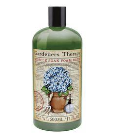 Gardener's Therapy Muscle Soak Foam Bath #zulily #zulilyfinds