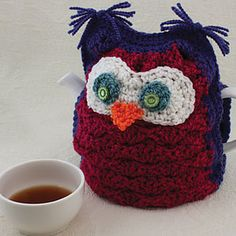 "Whoo Wants Tea? Tea Cozy by Patons - free pattern ... crochet and ""stuff"" instead! :0)"