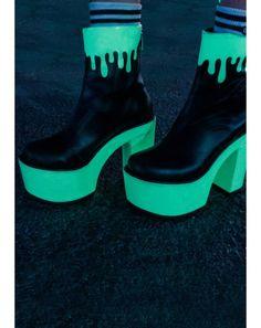 Current Mood Lava Glow Boots   Dolls Kill
