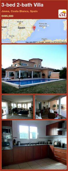 3-bed 2-bath Villa in Javea, Costa Blanca, Spain ►€495,000 #PropertyForSaleInSpain