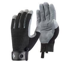 Black Diamond Crag Climbing Gloves, Black, Large Breathable stretch mesh fabric and knuckle padding Synthetic leather palm and fingers with reinforced index finger and thumb crotch for durability Hook-and-loop cuff closure with pull-on/clip-in loop Knit Mittens, Knitted Gloves, Climbing Gloves, Rock Climbing, Mountain Bike Gloves, Mountain Biking, Dress Gloves, Large Scarf, Paisley Design