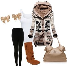 """""""Untitled #25"""" by alexis1707 on Polyvore I am in love with this sweater!"""