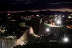 The border wall in Nogales