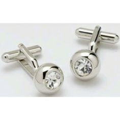 Women's Cufflinks (but not just for women!) - Solitaire Crystal Cufflinks with a Swarovski Crystal